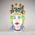 Ceramic Head Woman h. 45  cm. - Fico d'India