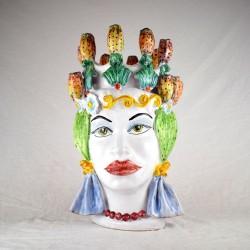Testa Donna h. 45 cm. - Fico d'India