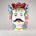 Ceramic Head Man h. 45  cm. - Pesci e Coralli